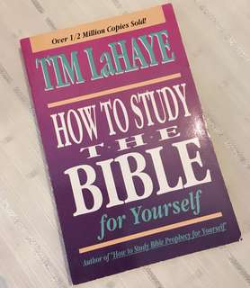 Charity Sale! How to Study the Bible by Tim LaHaye Christian Book