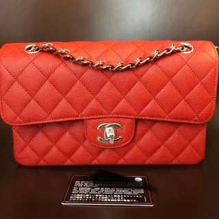 Chanel classic in small flap red