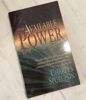 Charity Sale! Your Available Power by Charles Spurgeon Christian Book