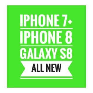 New iphone 7, 8plus, Galaxy S8