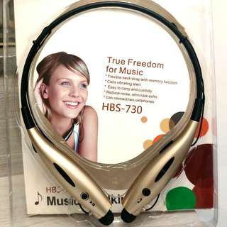 全新Stereo掛頸式無線藍芽耳機(可高清通話/聽MP3) Brand New Stereo Hanging Neck Wireless Bluetooth Headset (Can be High-Definition Call/Listen to MP3)