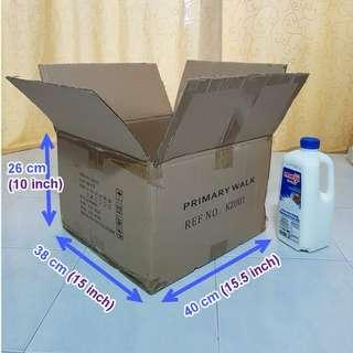 Medium size,  double wall, used carton box