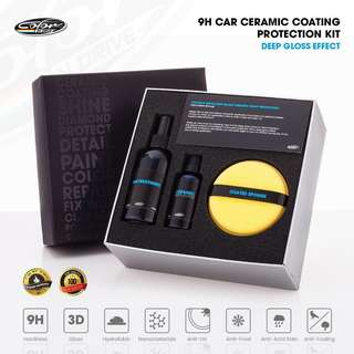 9H Car Ceramic Coating Paint Sealant Protection 50 ml. Kit - Color N Drive Deep Gloss (Pre-Order)
