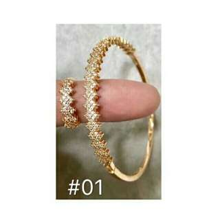 Bangkok 2in1 bangle bracelet with ring