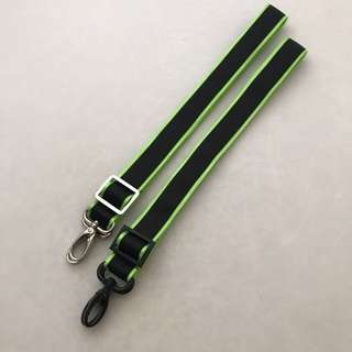 (Sale) 1 inch dual color black lime green seat belt strap for Jujube