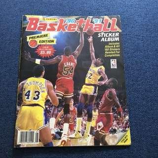 Panini 1990-1991 NBA Basketball Sticker Book (100% complete)