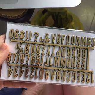 Letter stickers BN