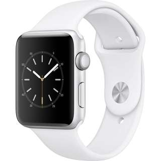 Apple Watch Series 2 42mm Smartwatch (Silver Aluminum Case, White Sport Band)