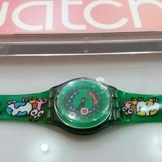 Jam tangan Swatch Original Green