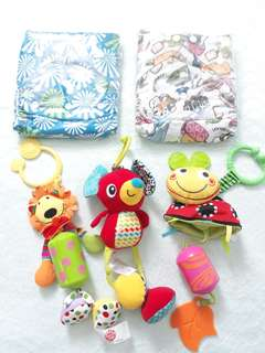 Alva Cloth Diapers + Hanging Toys w/ Sound