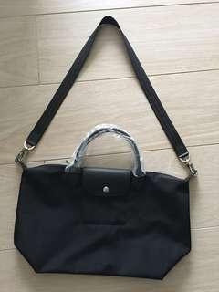 Brand New Longchamp Black Neo Le Pliage Nylon Tote Bag Handbag 名牌手袋