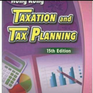 Hong Kong Taxation and Tax Planning 15edition by Patrick Ho, ebook