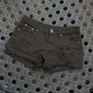 刷破黑色短褲