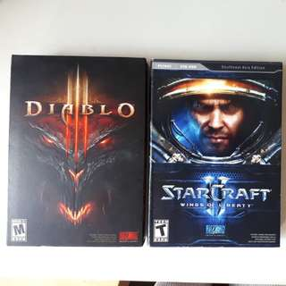 Diablo 3 and Starcraft 2 (CD key has been activated)