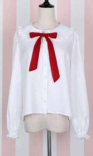 White Lolita Blouse Long Sleeve