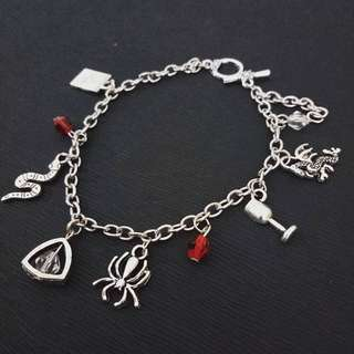 Harry potter Game of thrones Charmed bracelet