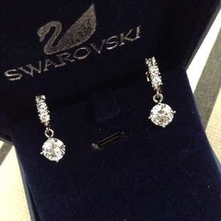 Swarovski crystal hoop earrings