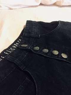 Black Denim High Waisted Shorts | Cotton On