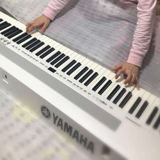 Yamaha P255 88-Key Professional Weighted Action Digital Piano with Sustain Pedal, White color