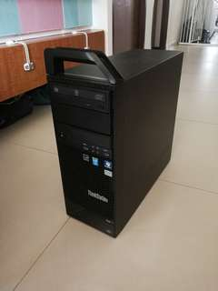 IBM Lenovo ThinkStation S30 Workstation, Intel Xeon E5-2667, 6 Cores 12 Threads, High Frequency, 16GB ECC RAM, 100GB Micron P400e SSD, 500GB HDD, Windows 10 Professional, nVIDIA Quadro NVS295