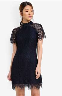 Capped sleeve lace dress