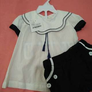 Birds and Bees Navy Blouse