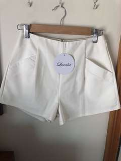 Luvalot cream shorts
