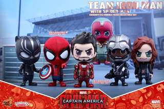 Hot Toys - COSB272 - Captain America: Civil War – Team Iron Man With Spider-Man Cosbaby (S) Bobble-Head Collectible Set