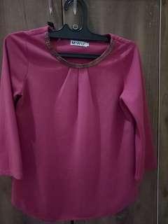 Atasan warna pink fanta