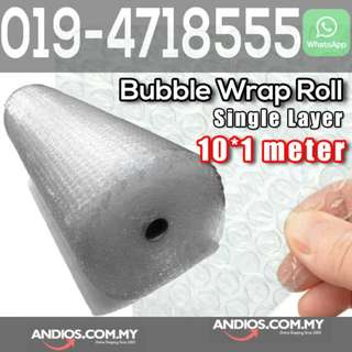 In-Stock✔Single Layer Bubble Wrap Roll 10meter X 1meter Post Parcel