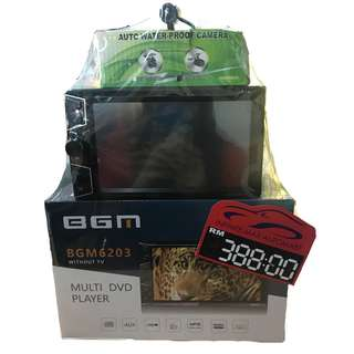 BGM 6203 DVD/USB/MP3 2DIN MNT W/CAMERA