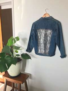 Vintage Sparkle Back Denim Jacket