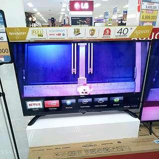 "Promo Smart TV 40"" Sharp LC-40LE380X Kredit Tanpa CC Gratis 1x"
