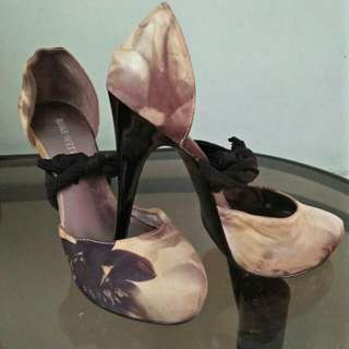 Silk Platform Pumps