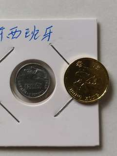 西班牙1993年最细小硬幣(比香港一角還细)