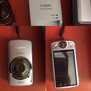 台中 Canon IXUS200 數位相機 功能正常 附一顆電池 充電器