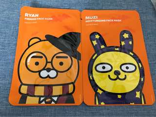 The Face Shop Kakao friends masks