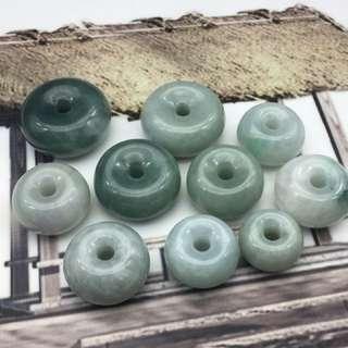 天然翡翠糯種飄綠/飄花厚裝水泡掛件