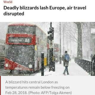 NEWS ALERT! Snow storms bury Europe
