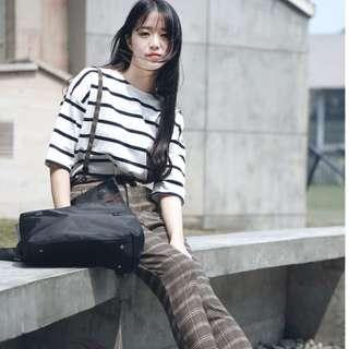 [CMT] 074 Korean Harajuku Style Striped T-Shirt