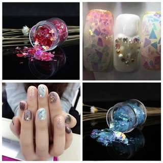 Many Color 10ml/box Nail Sticker Broken Glass Mirror Effect For Nails Art Fancy Punk Nail Foils