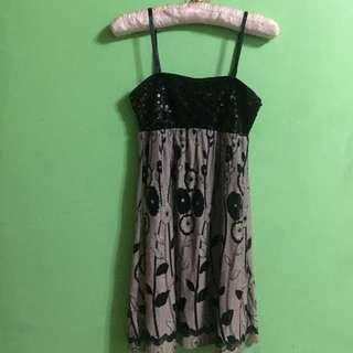 Sequinned Spaghetti strap dress