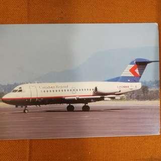 古董飛机原版明信片