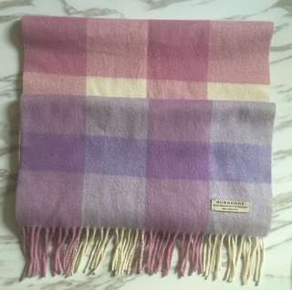 Purple scarf of Burberry