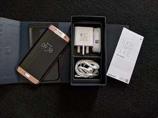 """Samsung S7 Edge Dual sim """" Rosse GOLD """"  lengkap"""