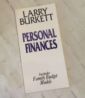 Charity Sale! Personal Finance by Larry Burkett Christian Book