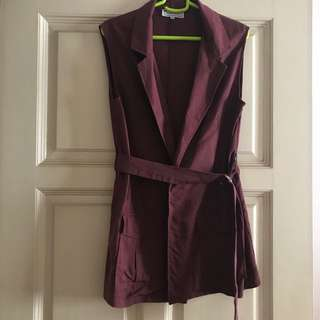 Maroon Vest by The Tinsel Rack