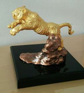 Singapore Mint Gold Plated Tiger