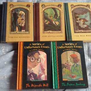 A Series of Unfortunate Events books 1-5