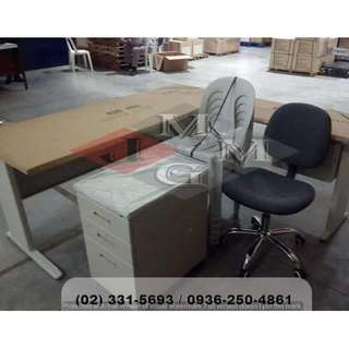 L Shape Desk x Office Table * Chairs ( office furniture )